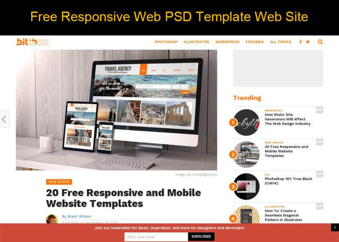 free responsive web psd template web site ki web design labo