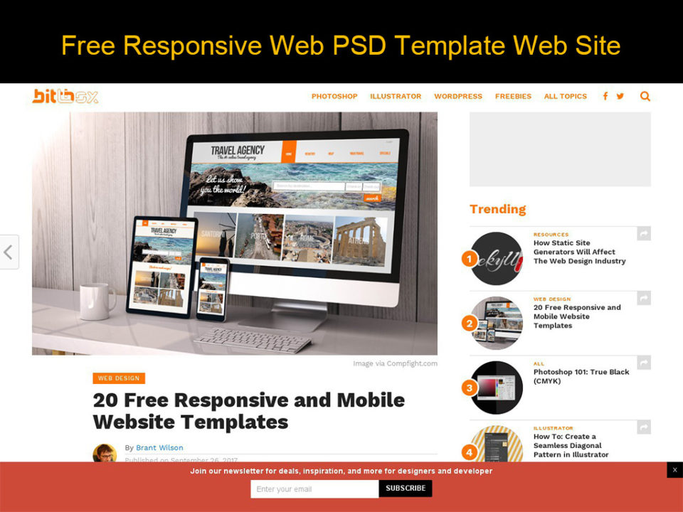 Free Responsive Web PSD Template Web Site